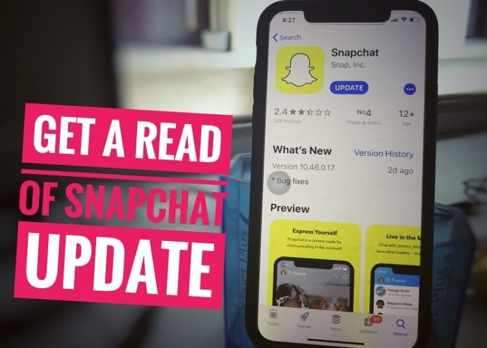 Get a rid of the snapchat Update on iPhone and iPad
