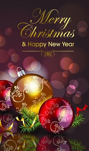Merry Christmas Happy New Year 2019 Wallpaper for iPhone XS Max iPhone XS and iPhone XR