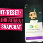 Reset/Edit or Remove Snapchat Bitmoji on iPhone, iPad profile: Cartoon Profile