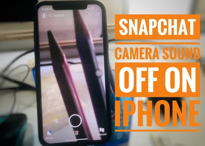 Snapchat Camera Sound turn off on iPhone
