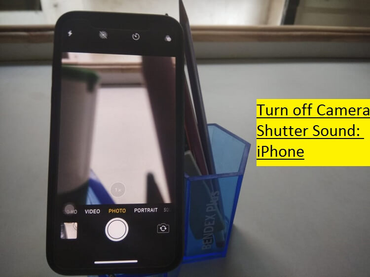 Turn off Camera Shutter sound on iPhone