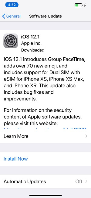 Update Software on iOS