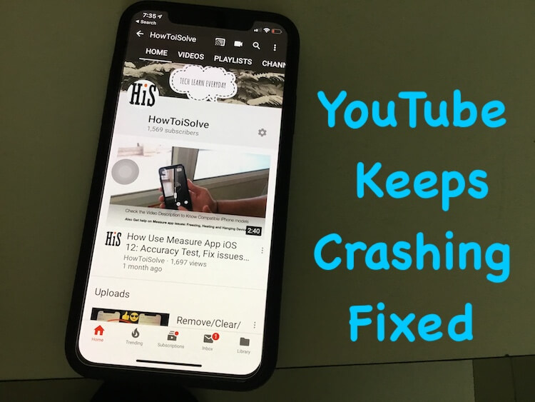 YouTube App Keeps Crashing on iPhone