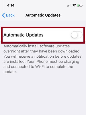 iOS Automatic Update app from iPhone