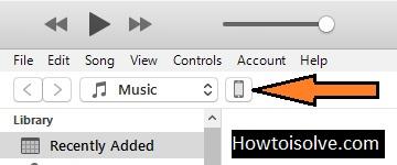 Устройство Apple появляется в iTunes на вашем Mac или ПК, щелкните значок iPhone