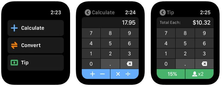 Calcbot Apple Watch App for Calculator