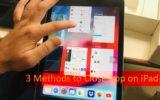 Close app on iPad no Home button