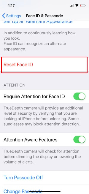 Remove or Reset Face ID On iPhone
