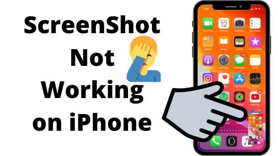 ScreenShot Not Working on iPhone fixes