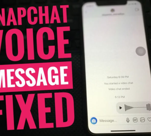 Snapchat Voice Message not working on iPhone
