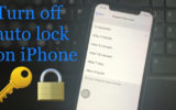 Turn off Auto lock on iPhone XR iPhone XS max and iPhone XS