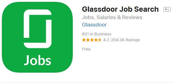 glassdoor Job Search app for iPhone and iPad