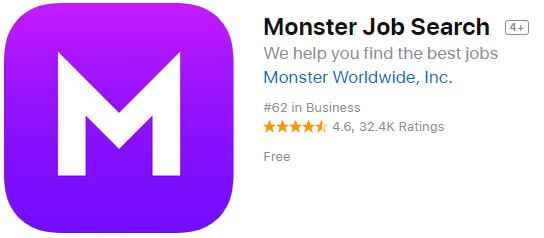monster Job Search app for iPhone and iPad