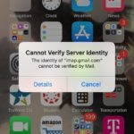 5 Fixes Cannot verify server identity iPad or iPhone XS Max, XS, XR, X, 8, 7, 6S, SE