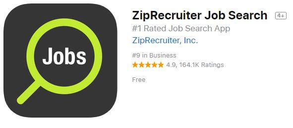ziprecruiter job Search iPhone and iPad app