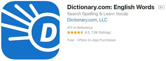 dictionary-com-english-words offline for iPhone