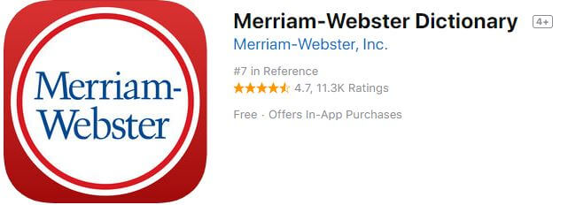 merriam-webster-dictionary for iPhone