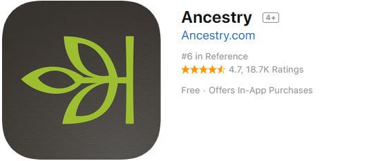 ancestry offline dictionary app for iPhone