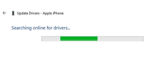 Allow to search iPhone driver on windows 10