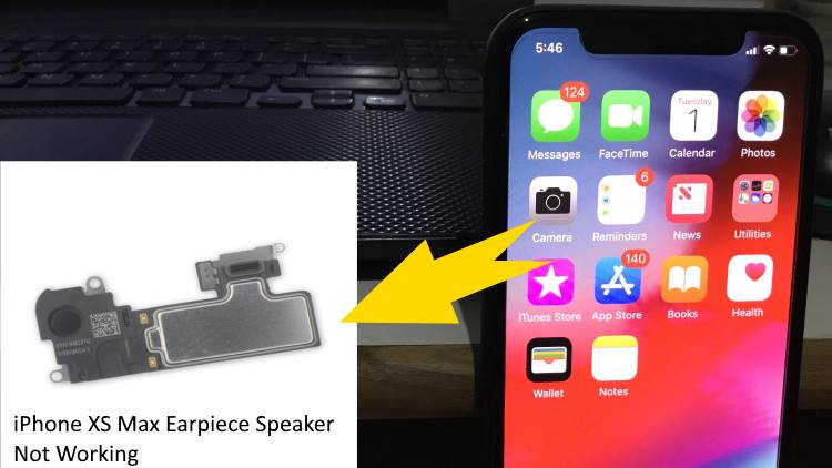 apple iphone xs max earpiece speaker not working  sounding