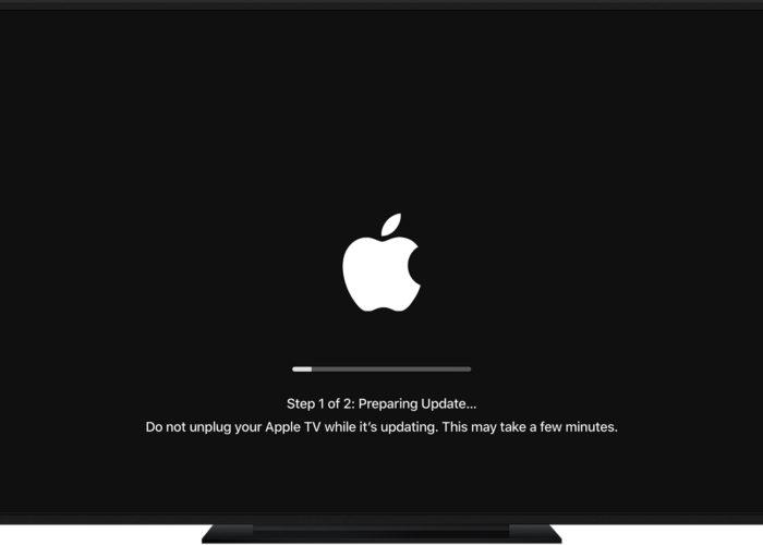 Apple tv software update screen Apple tv 4k Apple tv 4 generation