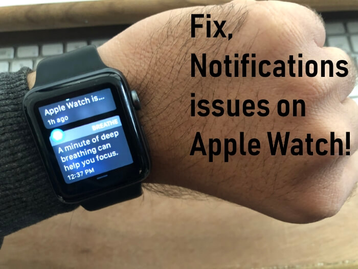 Cant get notifications on apple watch
