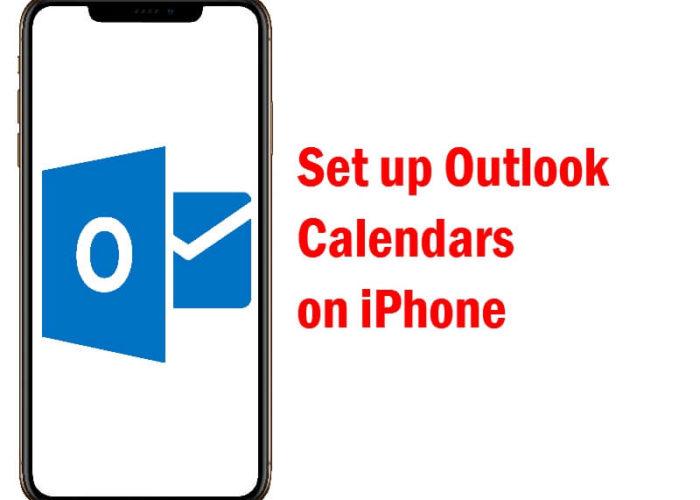 Setup Outlook Calendars on iPhone