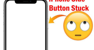 iPhone XS Max Side button stuck