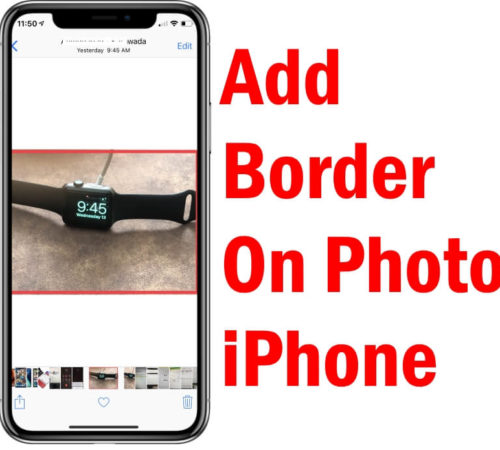 Add Border to Photos on iPhone