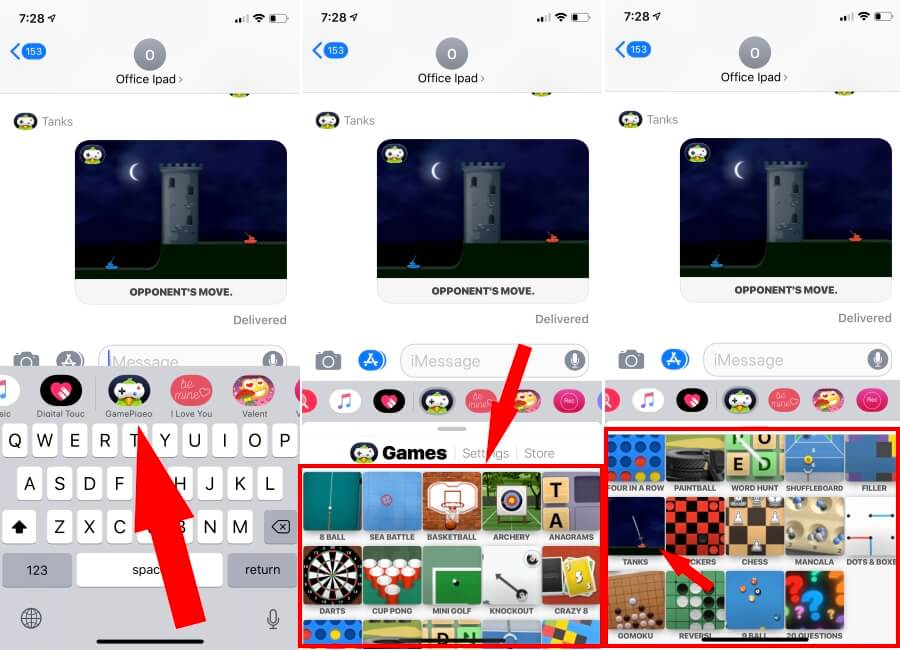 How to Play Battle Games in iMessage on iPhone, iPad: Tanks War, SEA