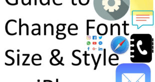 Change Font Style and Size on iPhone