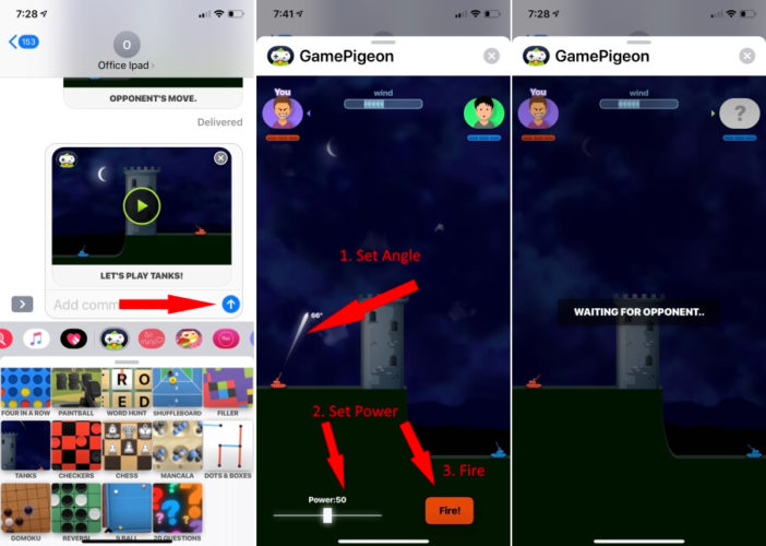 Start to Play War Game on imessage on iPhone