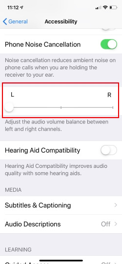 Turn on Front Speaker in Landscape mode on iPhone