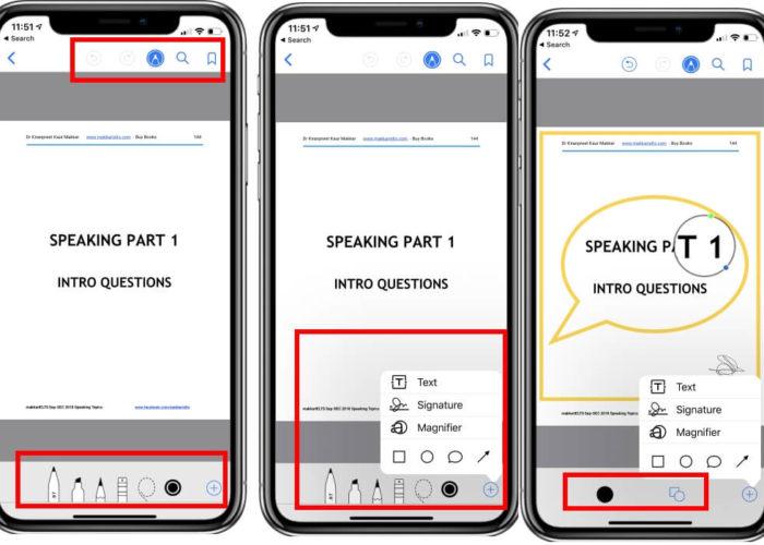 Use PDF Markup Tools on iBooks App on iPhone and iPad
