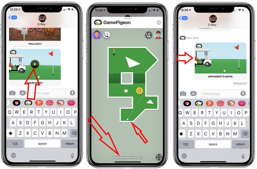 играть в Golf Mini в iMessage на iPhone и iPad