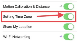 Turn on Toggle Settings Time Zone in location services