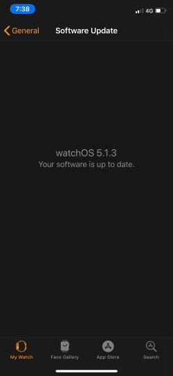 Check for update apple watch on iPhone