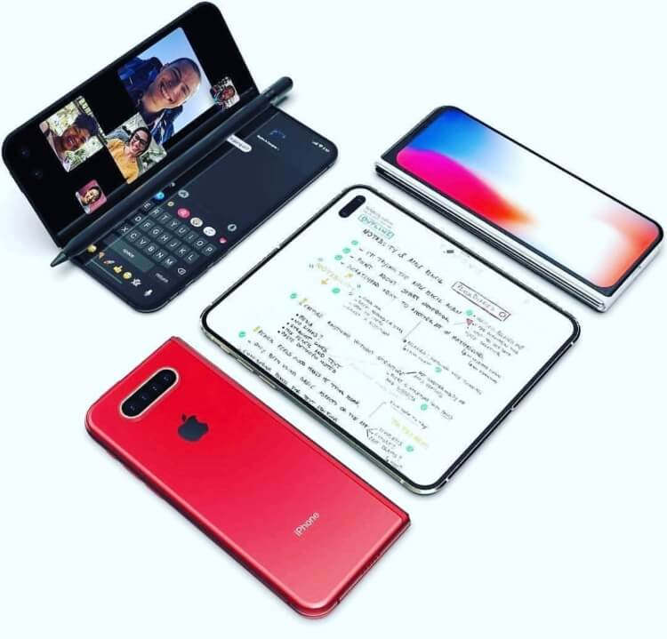 Foldable iPhone 2020 Note access