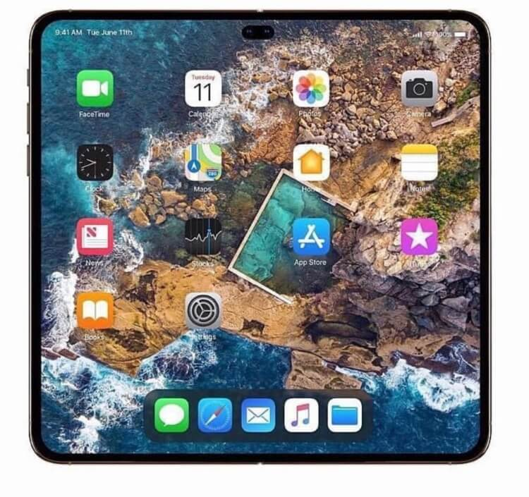 Foldable iPhone 2020 full screen preview