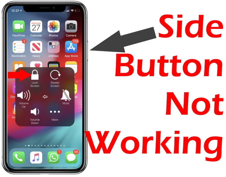 Side button not working on iPhone