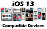 iOS 13 Compatible Devices list