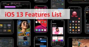 iOS 13 features List