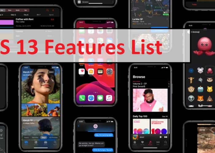iOS 13 features List