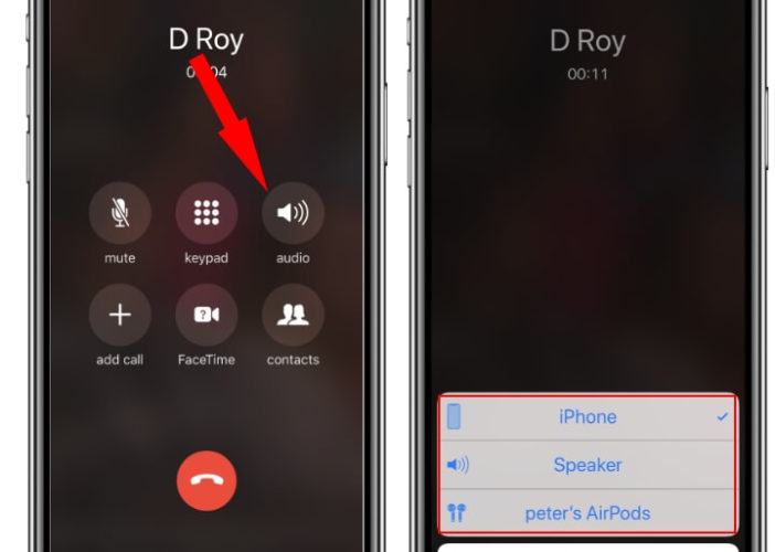 iPhone XS max has no call sound