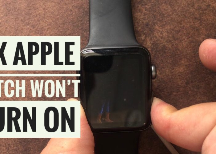 solution apple watch 4 wont turn on or charge