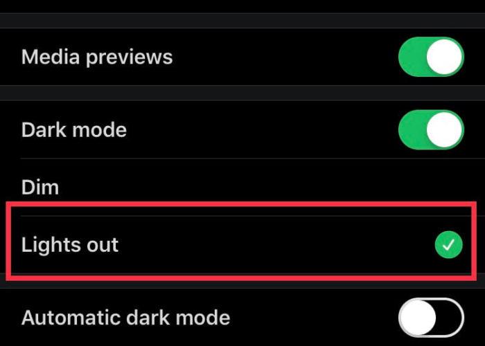 tap on lights option to activate twitter dark mode on iPhone iPad