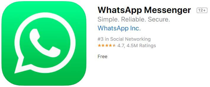 WhatsApp as a FaceTime Alternatives
