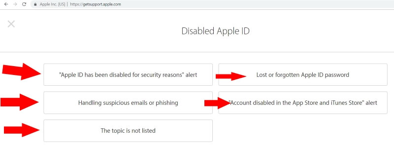 Reasons for Apple ID disabled