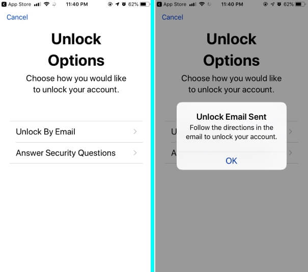 Unlock Apple ID Options