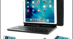 Snugg iPad Mini 5 Keyboard With Portable Bluetooth Back